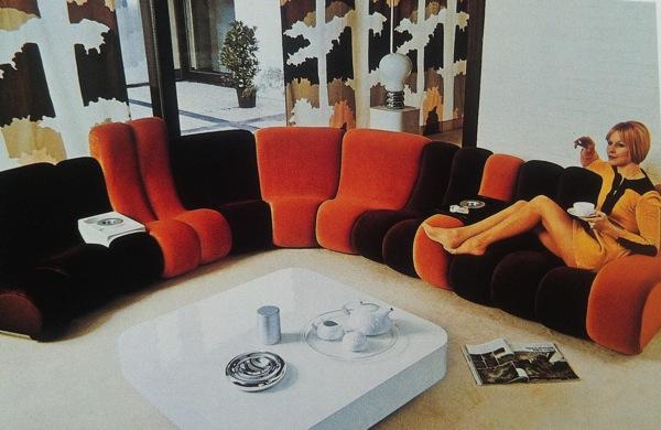 Canapés originaux vintage art déco