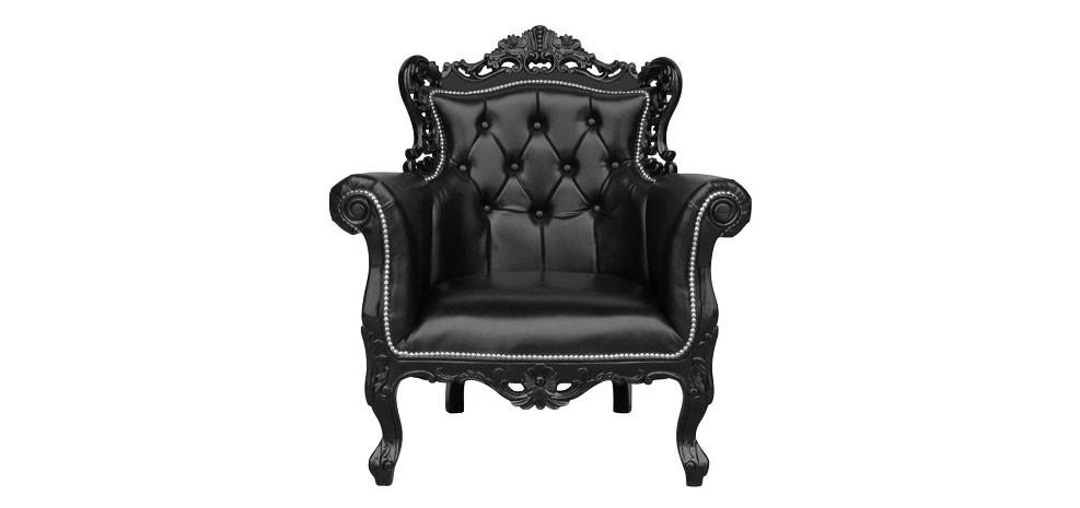 Le fauteuil noir baroque