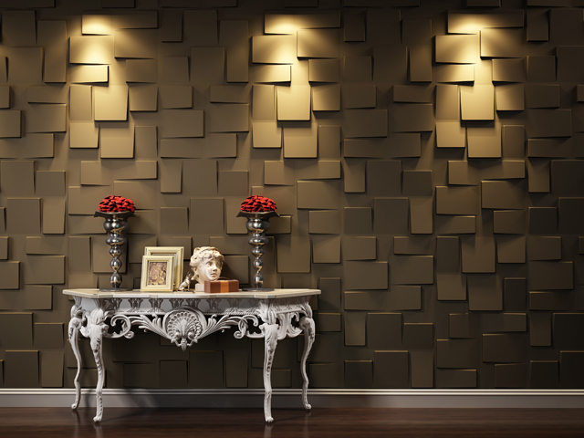 panneaux muraux 3d une vraie bonne id e pour relooker le mur du salon home staging d co design. Black Bedroom Furniture Sets. Home Design Ideas